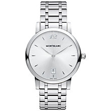 Buy Montblanc 108768 Men's Star Classique Date Stainless Steel Bracelet Watch, Silver Online at johnlewis.com