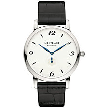 Buy Montblanc 107073 Men's Star Classique Automatic Alligator Leather Strap Watch, Black/White Online at johnlewis.com