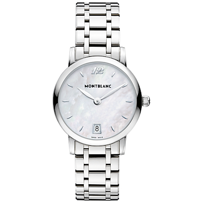 Montblanc 108764 Women's Star Classique Lady Stainless Steel Bracelet Strap Watch, Silver