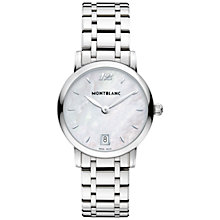 Buy Montblanc 108764 Women's Star Classique Lady Stainless Steel Leather Strap Watch, Silver Online at johnlewis.com