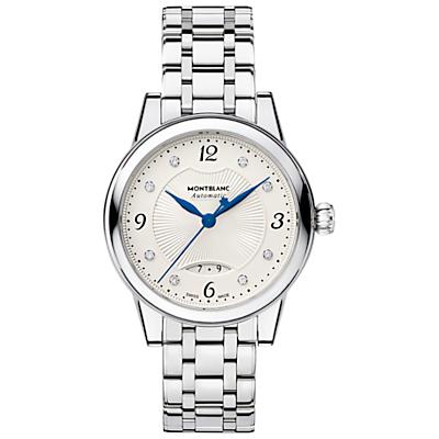 Montblanc 111056 Women's Bohème Date Automatic Bracelet Strap Watch, Silver/Cream