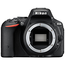 "Buy Nikon D5500 Digital SLR Camera with Vari-angle, 24.2MP, Wi-Fi, Full HD, 3.2"" Touch Screen, Black + Adobe Photoshop Elements 13 Online at johnlewis.com"