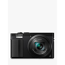 "Buy Panasonic LUMIX DMC-TZ70 Digital Camera HD 1080p, 12.1MP, 30x Optical Zoom, Manual Control Ring, Live View Finder, 3"" LCD Screen Online at johnlewis.com"