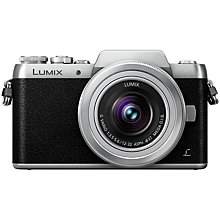 "Buy Panasonic Lumix G DMC-GF7 Compact System Camera with 12-32mm Kit Lens, HD 1080p, 16MP, 2.6x Optical Zoom, Wi-Fi, 3"" LCD Tilting Touch Screen Online at johnlewis.com"