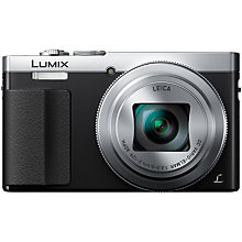 "Buy Panasonic LUMIX DMC-TZ70 Digital Camera HD 1080p, 12.1MP, 30x Optical Zoom, NFC, Wi-Fi, Manual Control Ring, Live View Finder, 3"" LCD Screen Online at johnlewis.com"