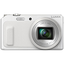 "Buy Panasonic Lumix DMC-TZ57 Digital Camera, HD 1080p, 16MP, 20x Optical Zoom, Wi-Fi, 3"" High Resolution Flip Screen Online at johnlewis.com"