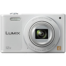 "Buy Panasonic Lumix DMC-SZ10EB-W Digital Camera, HD 720p, 16MP, 12x Optical Zoom. 2.7"" LCD 180 Tilting Display Screen Online at johnlewis.com"