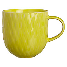 Buy John Lewis Wicker Textured Mug, Yellow Online at johnlewis.com