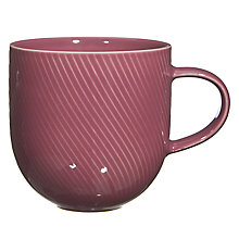 Buy John Lewis Twist Texture Mug, Purple Online at johnlewis.com