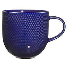 Buy John Lewis Mesh Textured Mug, Colbalt Blue Online at johnlewis.com