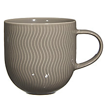 Buy John Lewis Wave Textured Mug, Grey Online at johnlewis.com