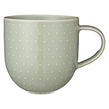 Buy John Lewis Polka Dot Textured Mug, Green Online at johnlewis.com