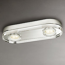 Buy Philips Mira LED 2 Bulb Bathroom Light Online at johnlewis.com