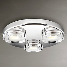 Buy Philips Mira 3 Bulb LED Bathroom Light Online at johnlewis.com