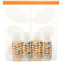Buy Orla Kiely Geranium Travel Bag Set, 4 x 50ml Online at johnlewis.com