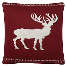 Buy John Lewis Knitted Reindeer Cushion Online at johnlewis.com