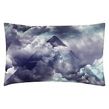 Buy John Lewis Pyramid Clouds Cushion, Blue Online at johnlewis.com