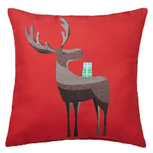Buy John Lewis Christmas Reindeer Cushion Online at johnlewis.com