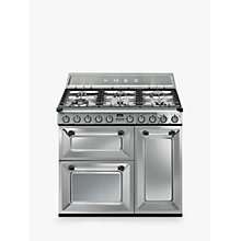Buy Smeg TR93X Dual Fuel Victoria Range Cooker with Induction Hob, Stainless Steel Online at johnlewis.com