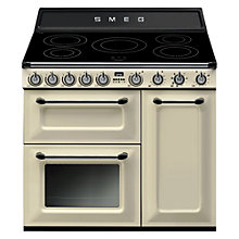 Buy Smeg TR93I Dual Fuel Victoria Range Cooker with Induction Hob Online at johnlewis.com