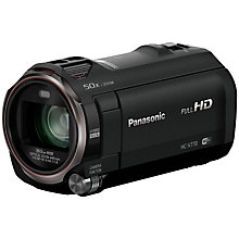 "Buy Panasonic HC-V770EB-K HD 1080p Camcorder, 6.3MP with HDR, 20x Optical Zoom, Wireless Twin Camera and 3"" LCD Screen Online at johnlewis.com"