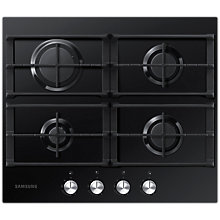 Buy Samsung NA64H3000AK/EU Gas Hob, Black Online at johnlewis.com