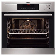 Buy AEG BS7304021M Integrated Single Electric Oven, Stainless Steel Online at johnlewis.com