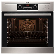 Buy AEG BP5014321M Integrated Single Electric Oven with 25% Steam, Stainless Steel Online at johnlewis.com