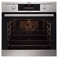 Buy AEG BE5003021M Integrated Single Electric Oven, Stainless Steel Online at johnlewis.com