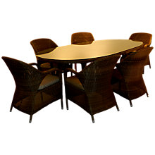 Buy 4 Seasons Outdoor Sussex 6-Seater Oval Dining Set Online at johnlewis.com