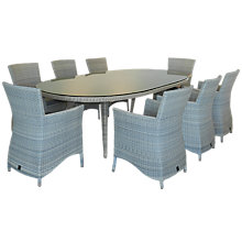 Buy 4 Seasons Outdoor Sheraton 8-Seater Oval Dining Set Online at johnlewis.com