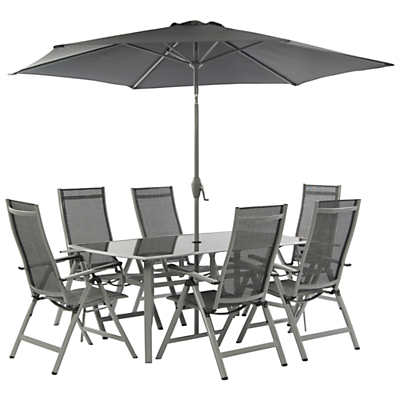 Suntime Newbury 6-Seater Outdoor Dining Set with Parasol