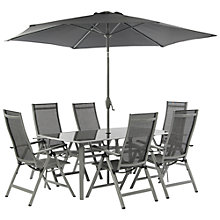 Buy Suntime Newbury 6-Seater Outdoor Dining Set with Parasol Online at johnlewis.com