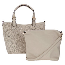 Buy Oasis Cut Out Shopper Bag, Mid Grey Online at johnlewis.com