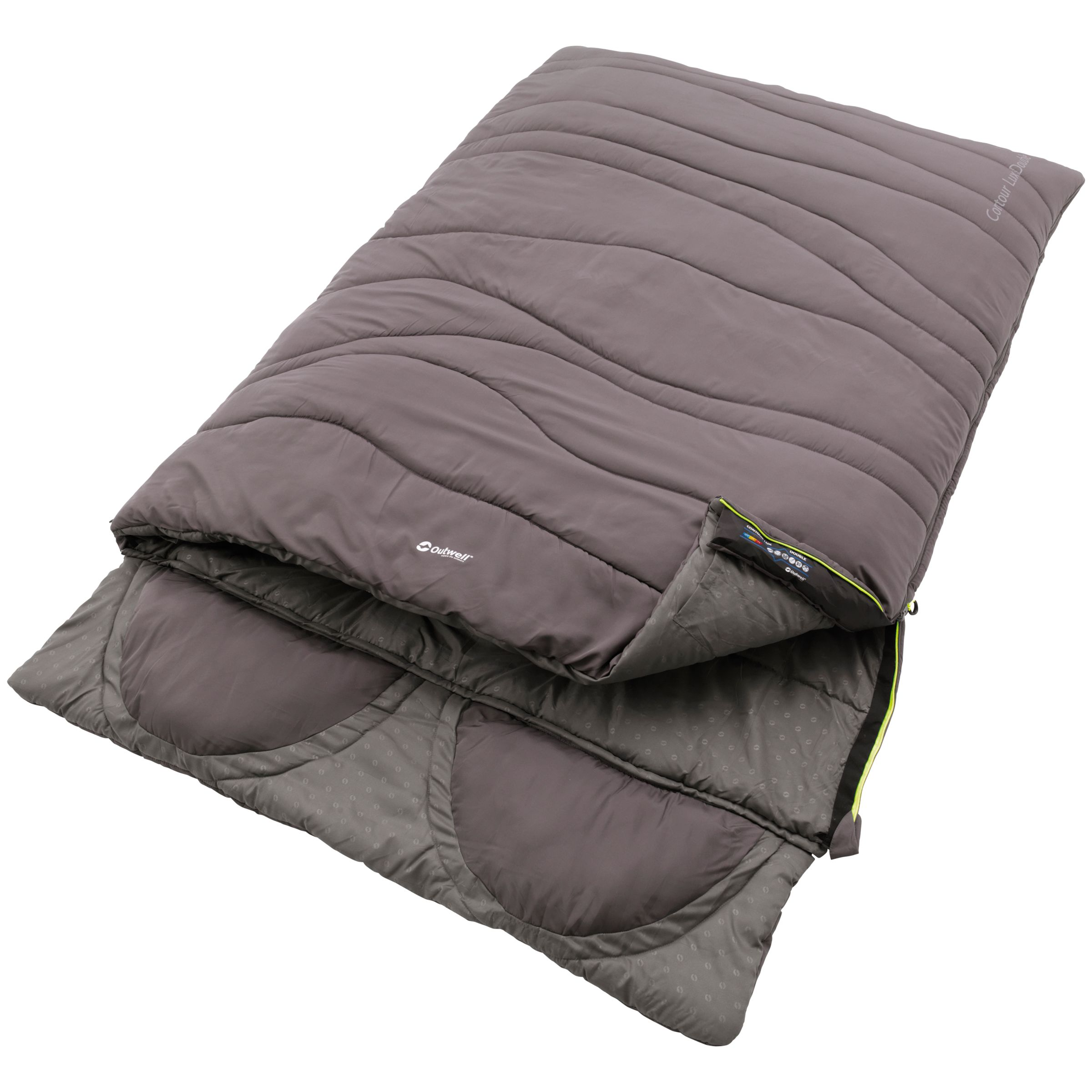 Outwell Outwell Contour Lux Double Sleeping Bag, Grey