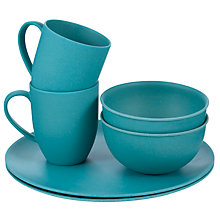 Buy Outwell Bamboo Dinner Set for 2, Blue Online at johnlewis.com