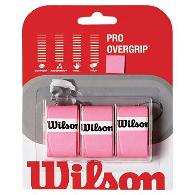 Wilson Pro Tennis Overgrip, Pack of 3