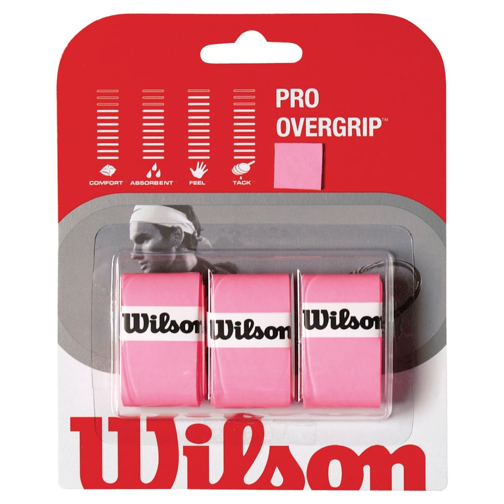 Wilson Wilson Pro Tennis Overgrip, Pack of 3