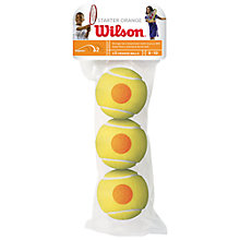 Buy Wilson Starter Tennis Balls, Pack of 3, Yellow/Orange Online at johnlewis.com