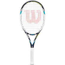 Buy Wilson Juice 108 Tennis Racket, White/Black Online at johnlewis.com