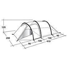 Buy Outwell Earth 3 Tunnel Tent, Grey/Blue Online at johnlewis.com