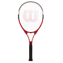 Buy Wilson Federer Adult Tennis Racket, Red/White Online at johnlewis.com