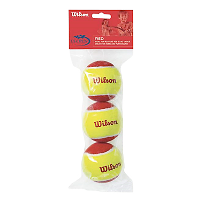 Wilson Starter Red Tennis Balls, Pack of 3, Red/Yellow