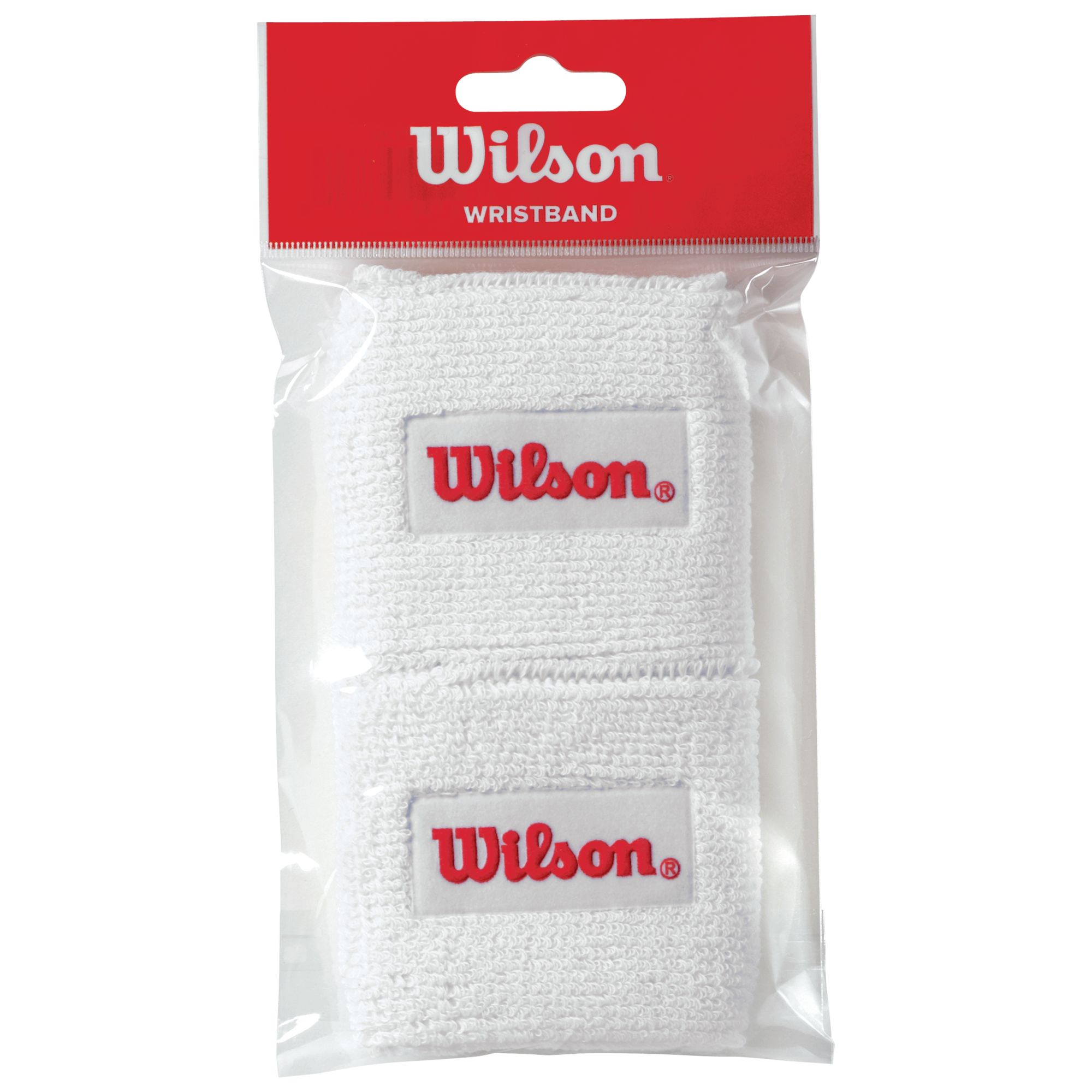 Wilson Wilson Tennis Wristband, Pack of 2, White