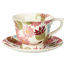 Buy Emma Bridgewater Water Lily Cup and Saucer, Large Online at johnlewis.com