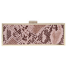 Buy Carvela Glisten Snake Clutch Bag, Pale Pink Online at johnlewis.com