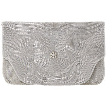 Buy Dune Emily Floral Embellished Clutch Bag, Silver Online at johnlewis.com