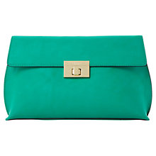 Buy Dune Elexue Foldover Clutch Bag, Teal Online at johnlewis.com