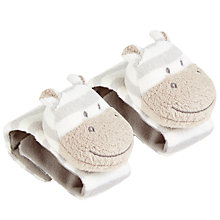 Buy John Lewis Hippo Wrist Rattle, Pack of 2 Online at johnlewis.com
