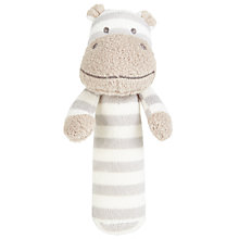 Buy John Lewis Hippo Squeaker, Grey/White Online at johnlewis.com